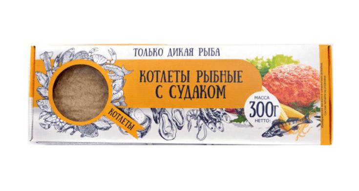 Котлеты рыбные из судака в панировке 300 г с/м, Don Kreveton