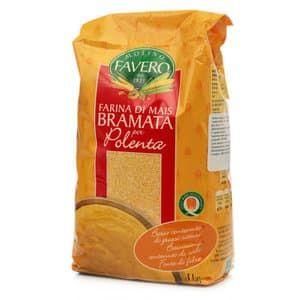 Мука кукурузная Полента Брамата 1 кг, Molino Favero