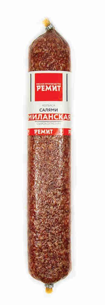 Колбаса сырокопченая салями «Миланская», Ремит