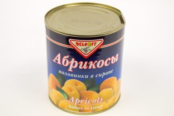 Абрикосы Delcoff в сиропе половинки 820г