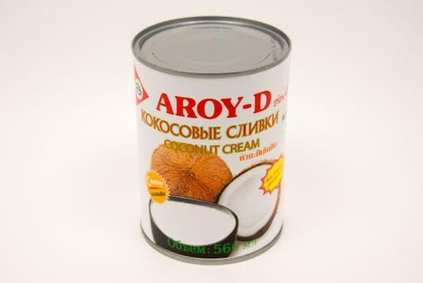 Сливки кокосовые 560 мл, AROY-D