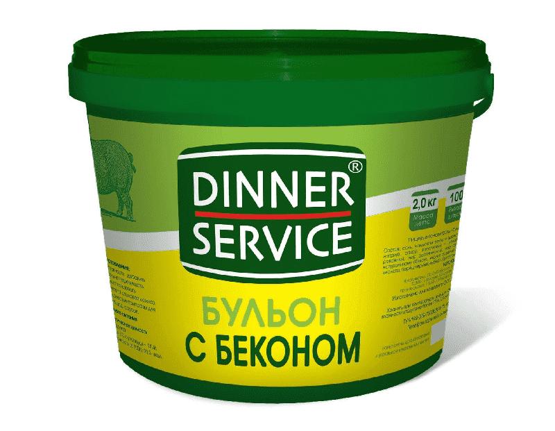 Бульон с беконом 2 кг, DINNER SERVICE
