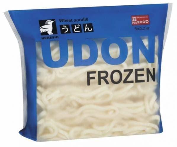 Лапша Удон варено-мороженая 1 кг, Kekeshi