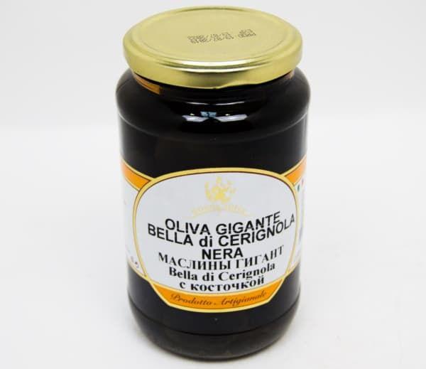 Маслины с косточкой Гигант Белла Чериньола 550 гр, Donna Sofia