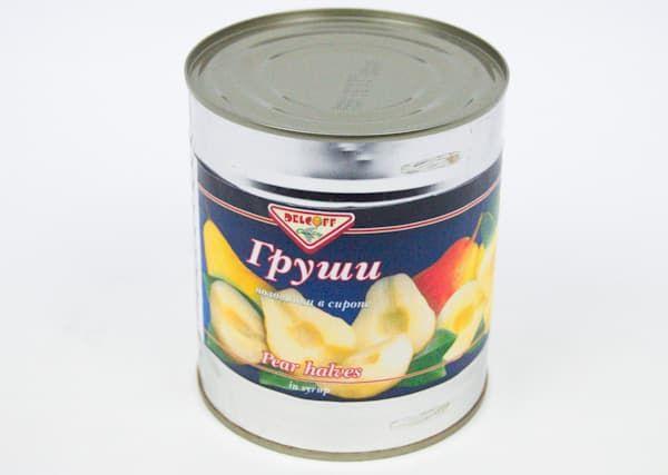 Груши в сиропе половинки DELCOFF 820 гр
