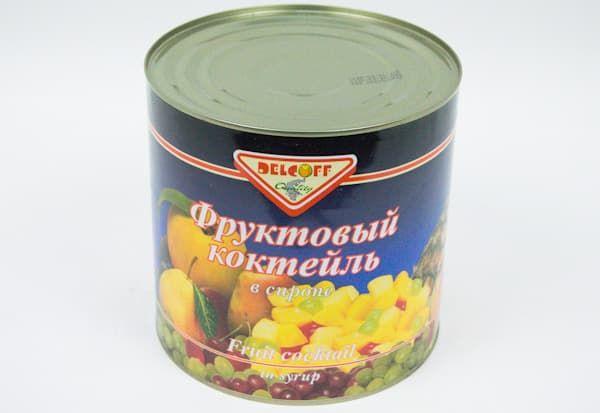 Коктейль фруктовый 2500 г, DELCOFF