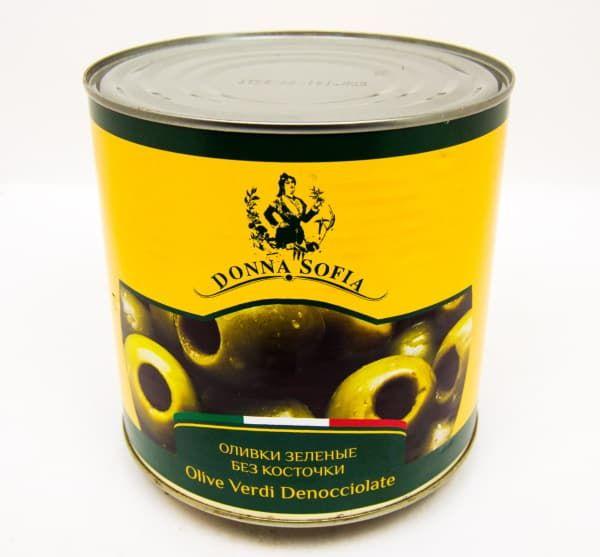 Оливки без косточки 2,2 кг, Donna Sofia