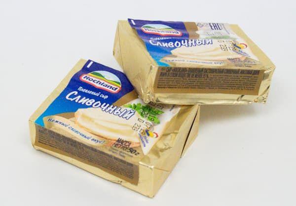 Сыр плавленый 35% сливочный 50 г, Hochland — купить по цене 31 руб. ◈ Интернет магазин АРОСА Маркет