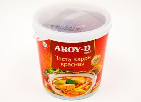 Паста карри красная 400 гр, AROY-D